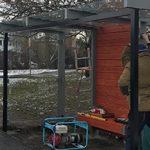 Obnova autobusových zastávek u hřbitova a u lékárny
