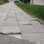 Obnova a prodloužení stávajícího chodníku spojující ul. Husova s náb. 17. listopadu (za lékárnou)