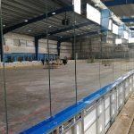 Výměna mantinelů na zimním stadionu ASVAJ
